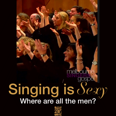 Singing is Sexy, Where are all the men?